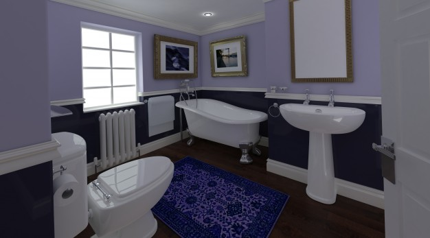 lilla badeværelse